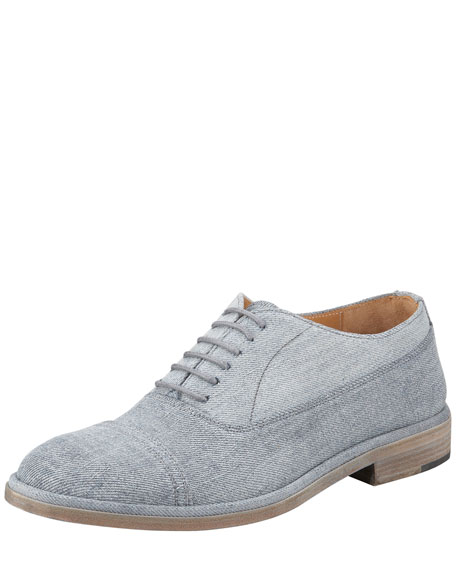 Denim Lace-Up Oxford