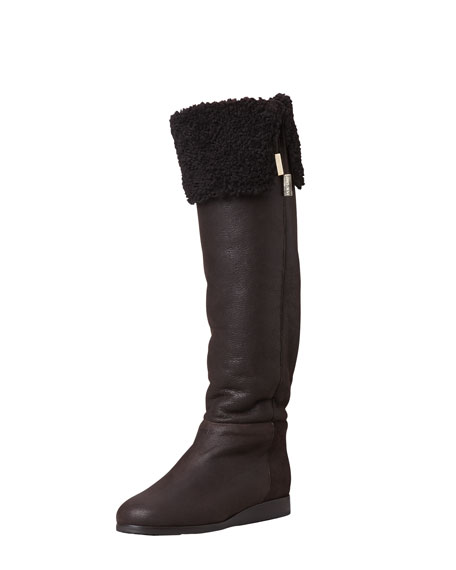 Deal Shearling-Lined Over-the-Knee Boot