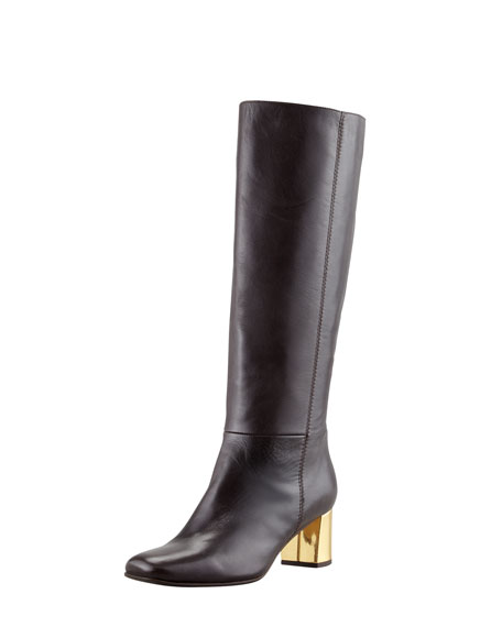 tavie specchio-heel knee boot