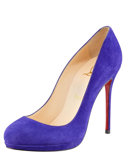 Filo Suede Platform Red Sole Pump