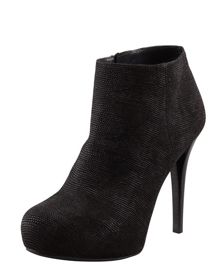 Right Goose Bump Napa Leather Bootie