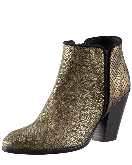 Python-Embossed Cowboy Bootie