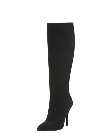 Suede Tall Boot