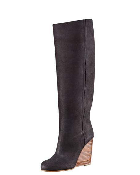 Plexi-Wedge Tall Boot