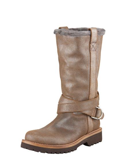 Metallic Suede Boot
