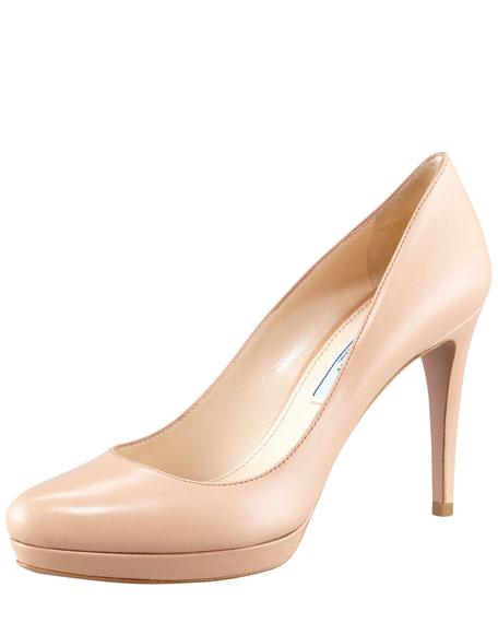 Leather Round-Toe Pump