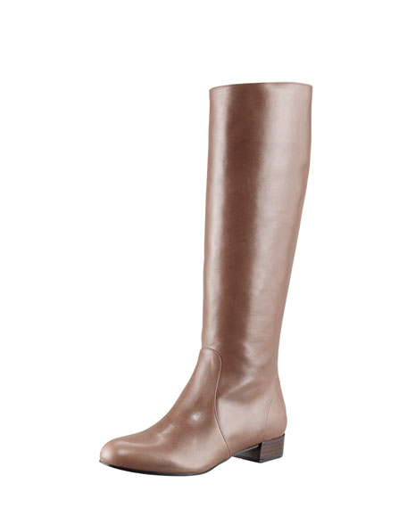 Back-Zip Leather Boot
