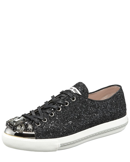 glittered sneakers Miu Miu