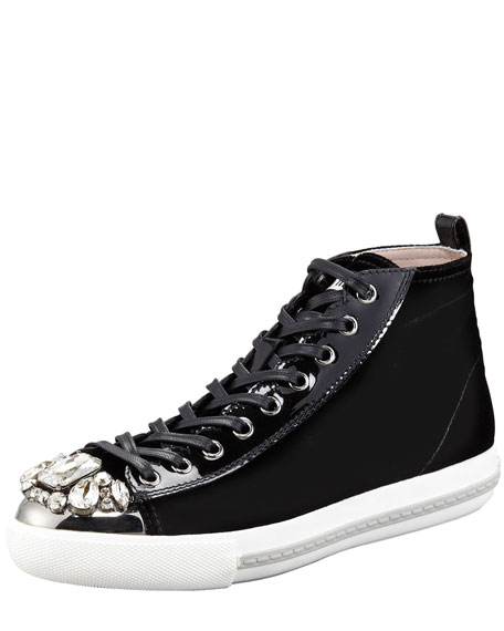 Bejeweled Velvet High Top