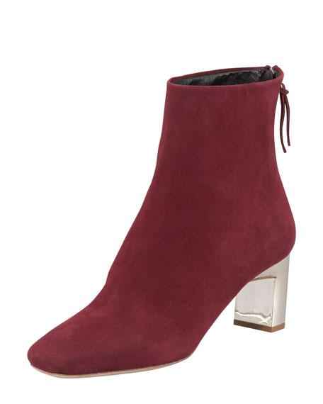 Jewel-Heel Suede Boot