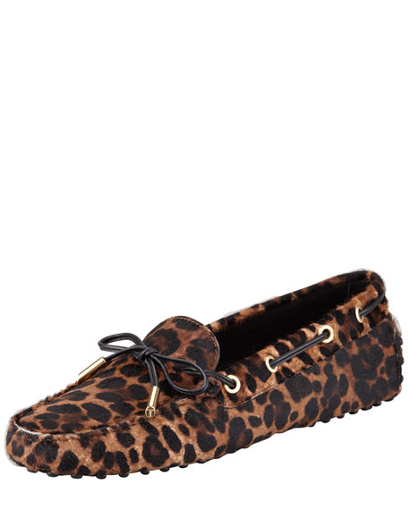 Leopard-Print Calf Hair Driver