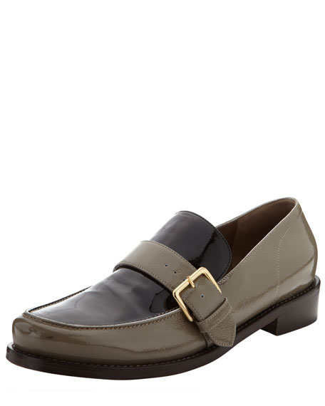 Buckled Patent Leather Loafer