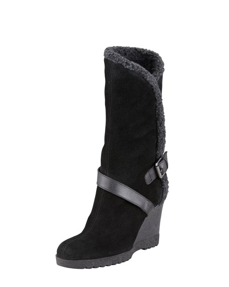 Suede Faux-Fur Lined Boot