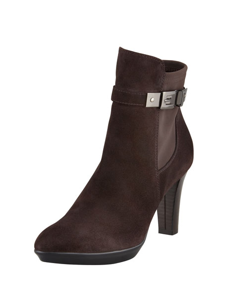 Regal Weatherproof Stretch Suede Bootie