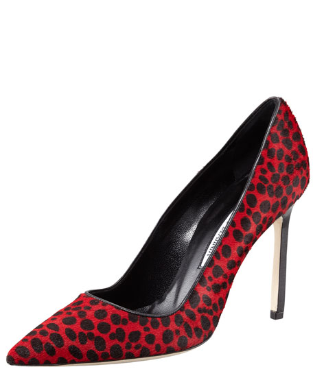 BB Spotted Calf Hair Pump