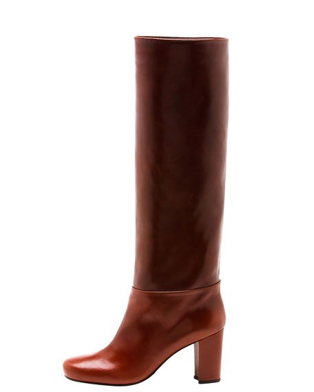 Toujours Chunky-Heel Leather Boot