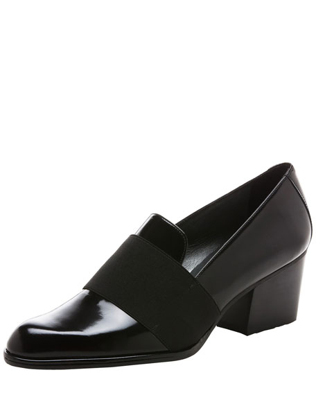 Zoliver Mid-Heel Smoking Slipper Pump