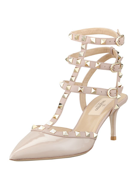 Rockstud Patent Leather Sandal