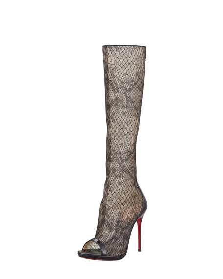 Alta Dentelle Lace Red Sole Boot