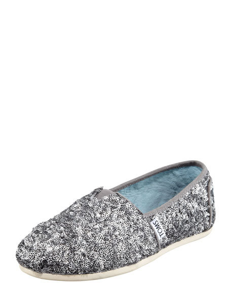 Sequined Matte Slip-On
