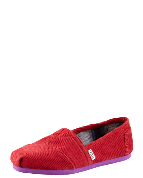 Corduroy Slip-On, Red