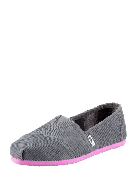 Corduroy Slip-On, Gray