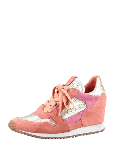 Colorblock Wedge Sneaker
