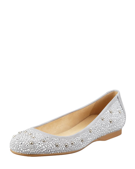 Nubeads Beaded Ballerina Flat, Dove