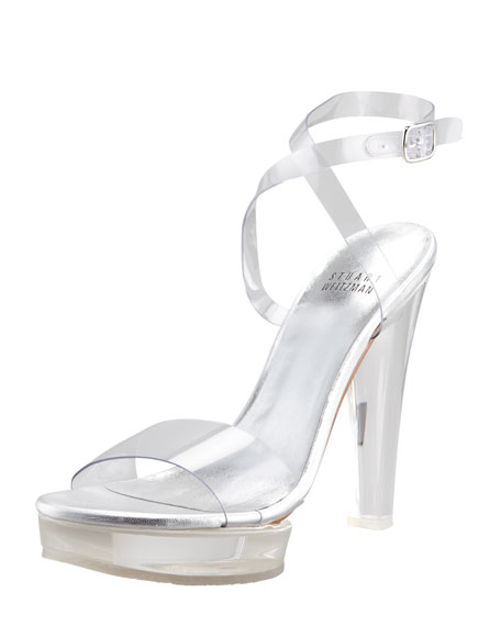 Visual Clear Platform Sandal