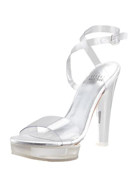 Visual Clear Platform Sandal