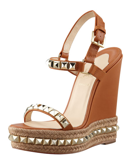 Cataclou Espadrille Wedge, Brown