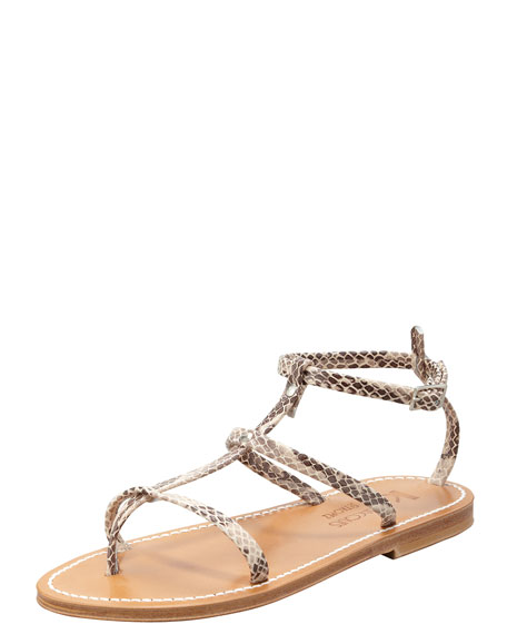 Gina Snakeskin Gladiator Thong Sandal