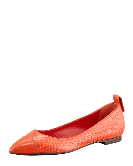 Python Pointed-Toe Skimmer, Coral