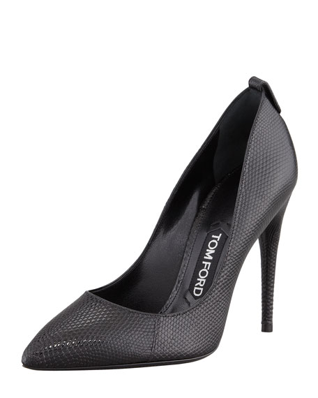 Lizard Pointed-Toe Pump