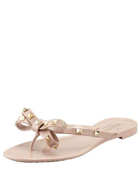 Rockstud PVC Thong Sandal, Poudre