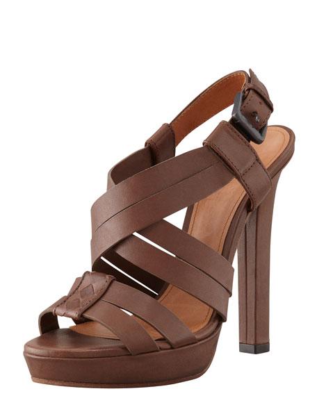 Crisscross High-Heel Platform Sandal
