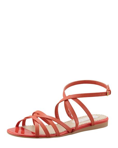 Double Crisscross Ankle-Wrap Sandal