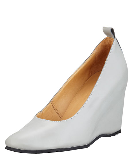 Leather Wedge Pump