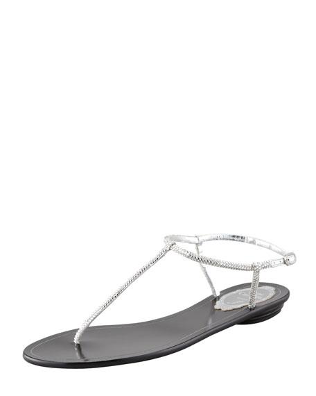 Crystal Thong Flat Sandal
