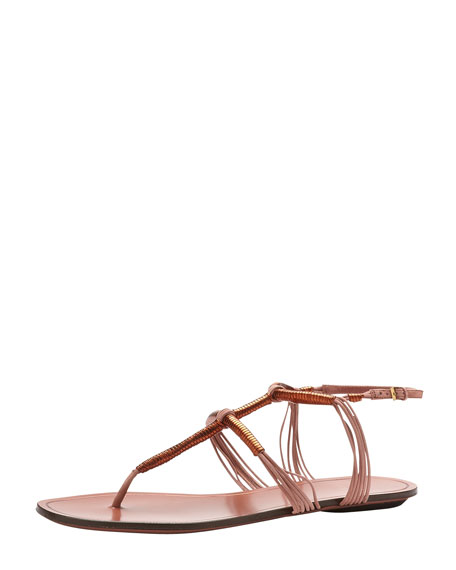 Flat Thong Sandal, Copper