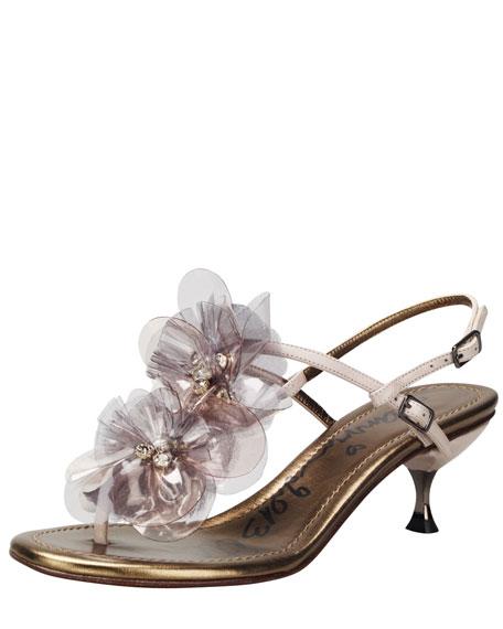 Plastic Flower-Strap Sandal