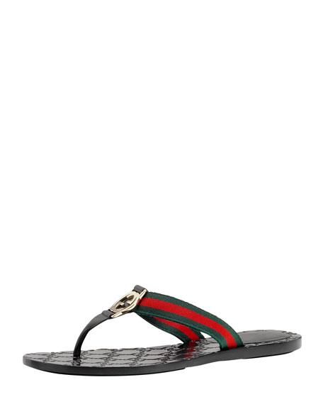 Web Thong Sandal, Black