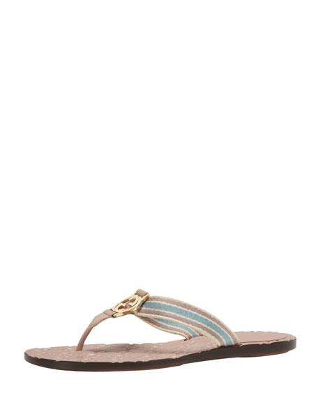 550c0804fd82ce Gucci Web Thong Sandal