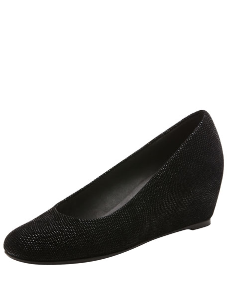 Sojourn Goosebump Wedge Pump, Black