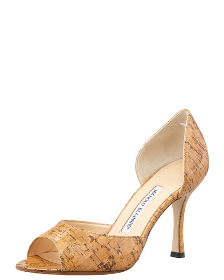 Astutado Cork d'Orsay Pump, Natural