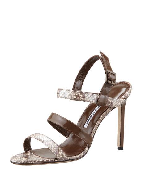 Villano Snake-Patent Sandal