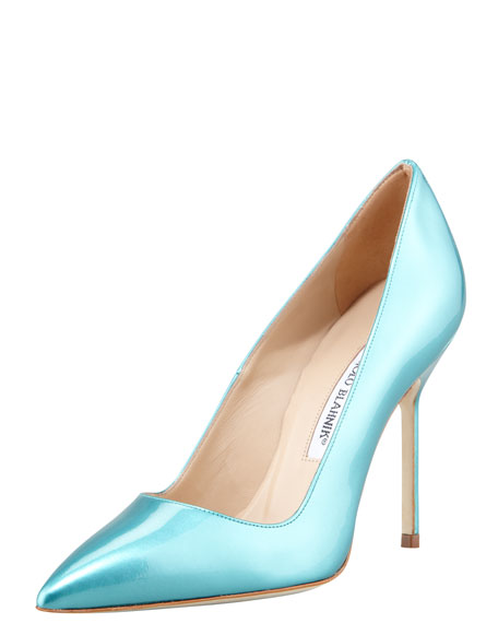 BB Bright Patent Pump, Turquoise