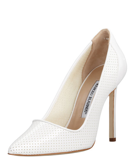 BB Perforated Patent Pump, White