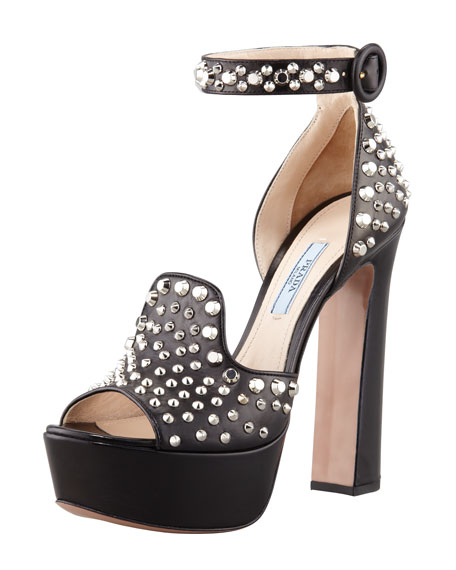 Studded Napa Platform Sandal