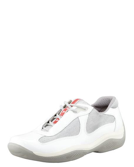 Sport Sneaker, White/Silver